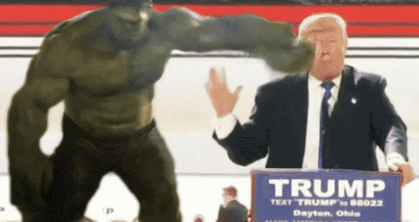 EINMALIGE VERWENDUNG NUR ALS AUFMACHER Screenshot Hulk Trump