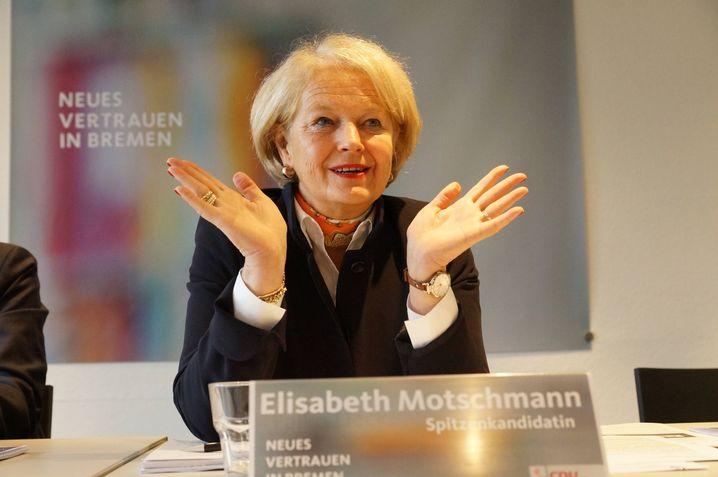 CDU-Spitzenkandidatin Elisabeth Motschmann: Will mindestens 25 Prozent schaffen