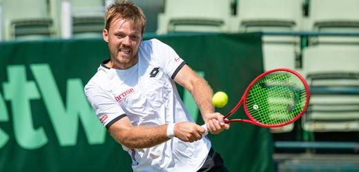 Tennis in Halle: Doppelspezialist Kevin Krawietz mit erstem Sieg auf Rasen