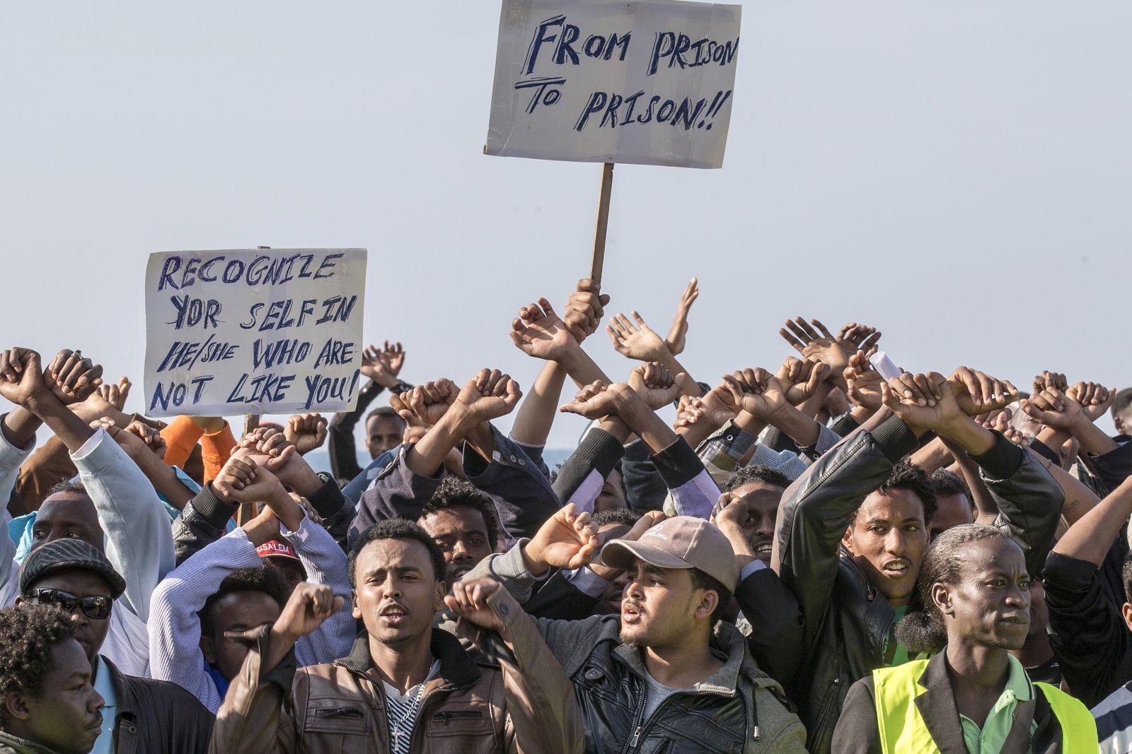 Tel/Aviv/Israel/Flüchtlinge/Demonstration