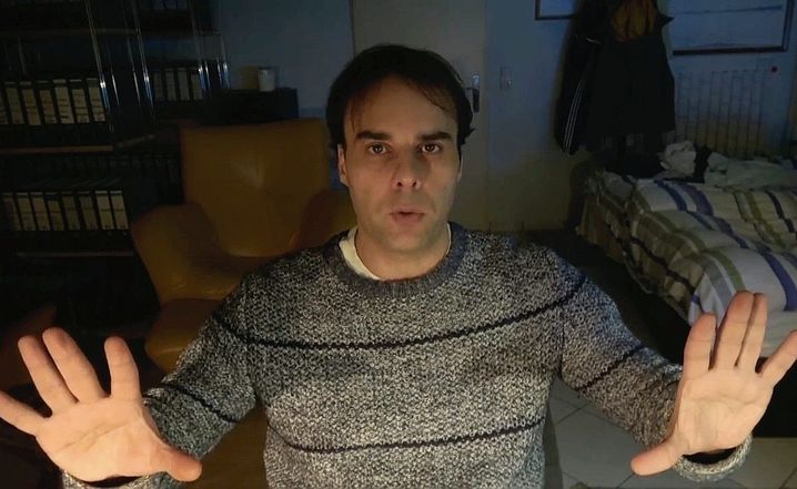 The perpetrator: In videos on his homepage, Tobias Rathjen presented the conspiracy theories of a man who had lost his way.