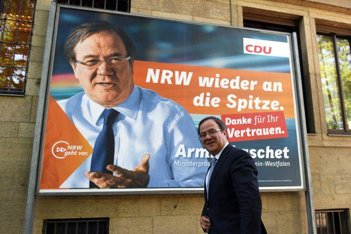 Der Wahlsieger der Landtagswahl in Nordrhein-Westfalen, Armin Laschet (CDU)