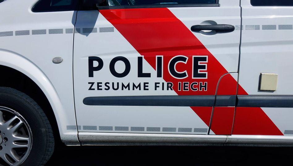 Ein Polizeifahrzeug in Luxemburg