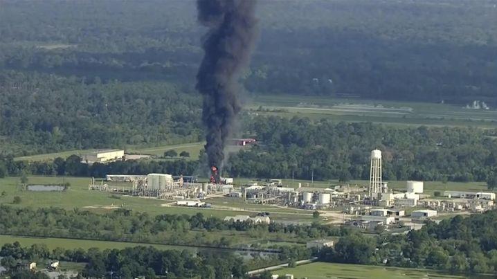 In einer Chemiefabrik in Crosby bei Houston brach erneut ein Feuer aus