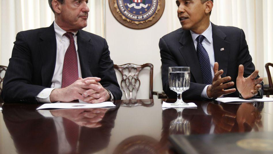 FBI-Chef Müller, US-Präsident Obama: Mehr Kontrolle durch das Weiße Haus