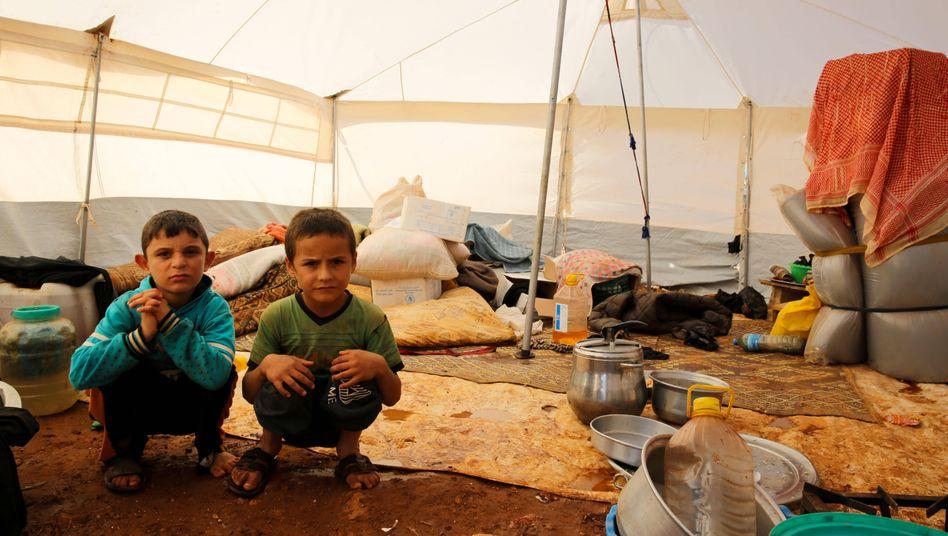 """Kinder in einem Flüchtlingscamp in Idlib, Syrien (Archiv): """"In jedem Land gibt es Kinder, die besonders verletzlich sind."""""""