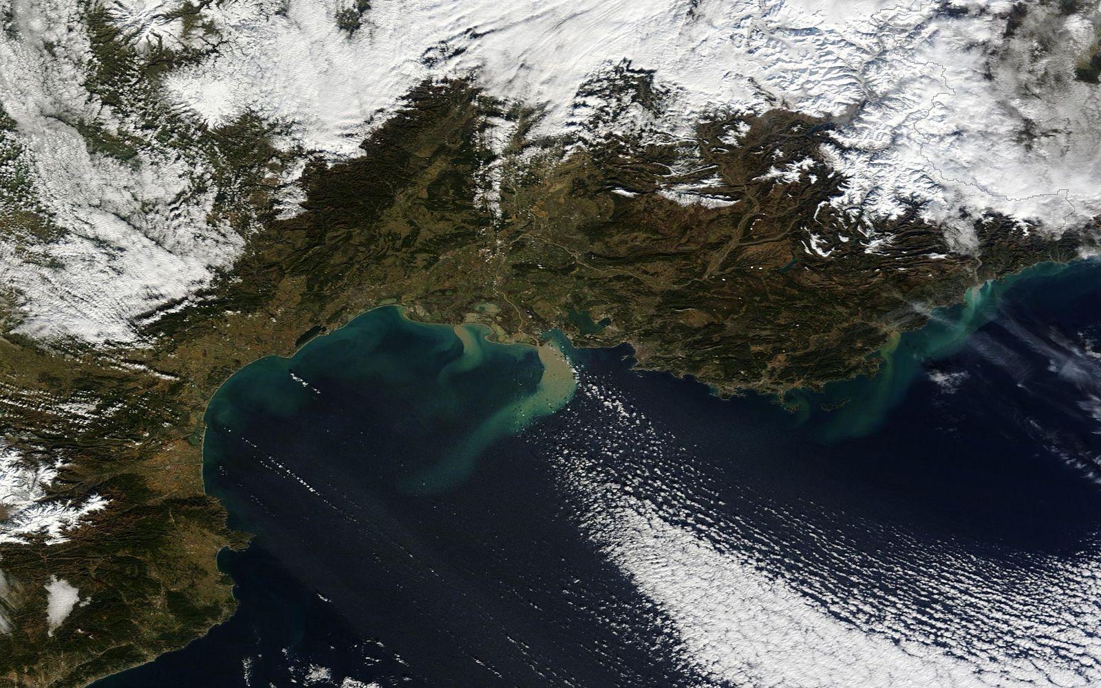 Satellitenbild der Woche/ Flut in Frankreich