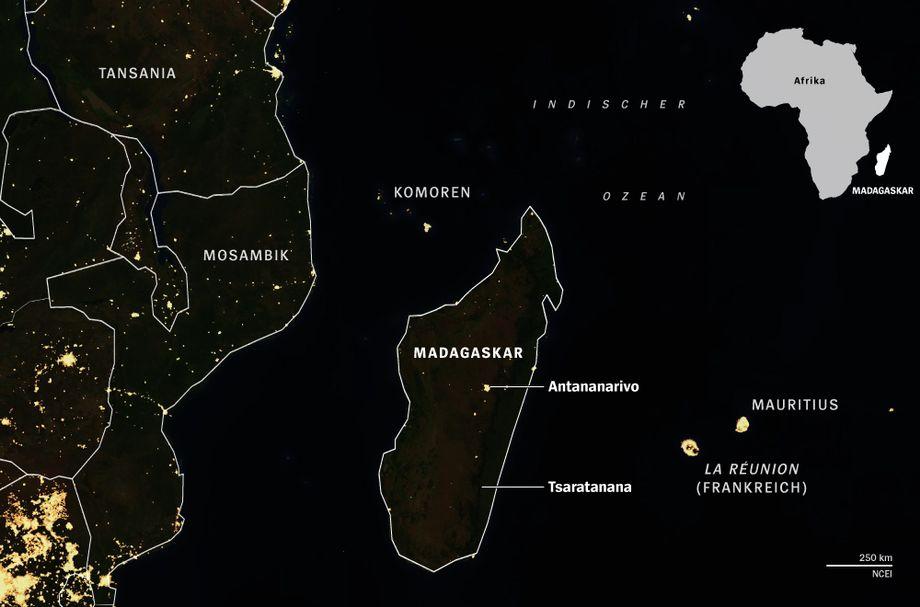 Satellite Image: See How Dark Madagascar Is at Night