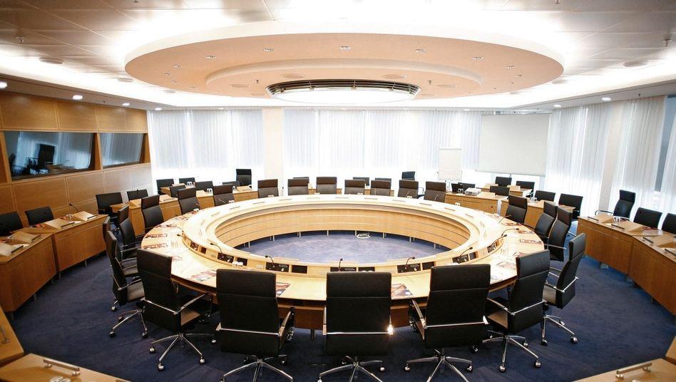 Konferenzraum in der Europäischen Zentralbank in Frankfurt am Main