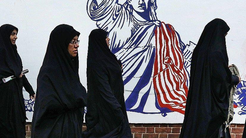 Antiamerikanisches Graffito in Teheran