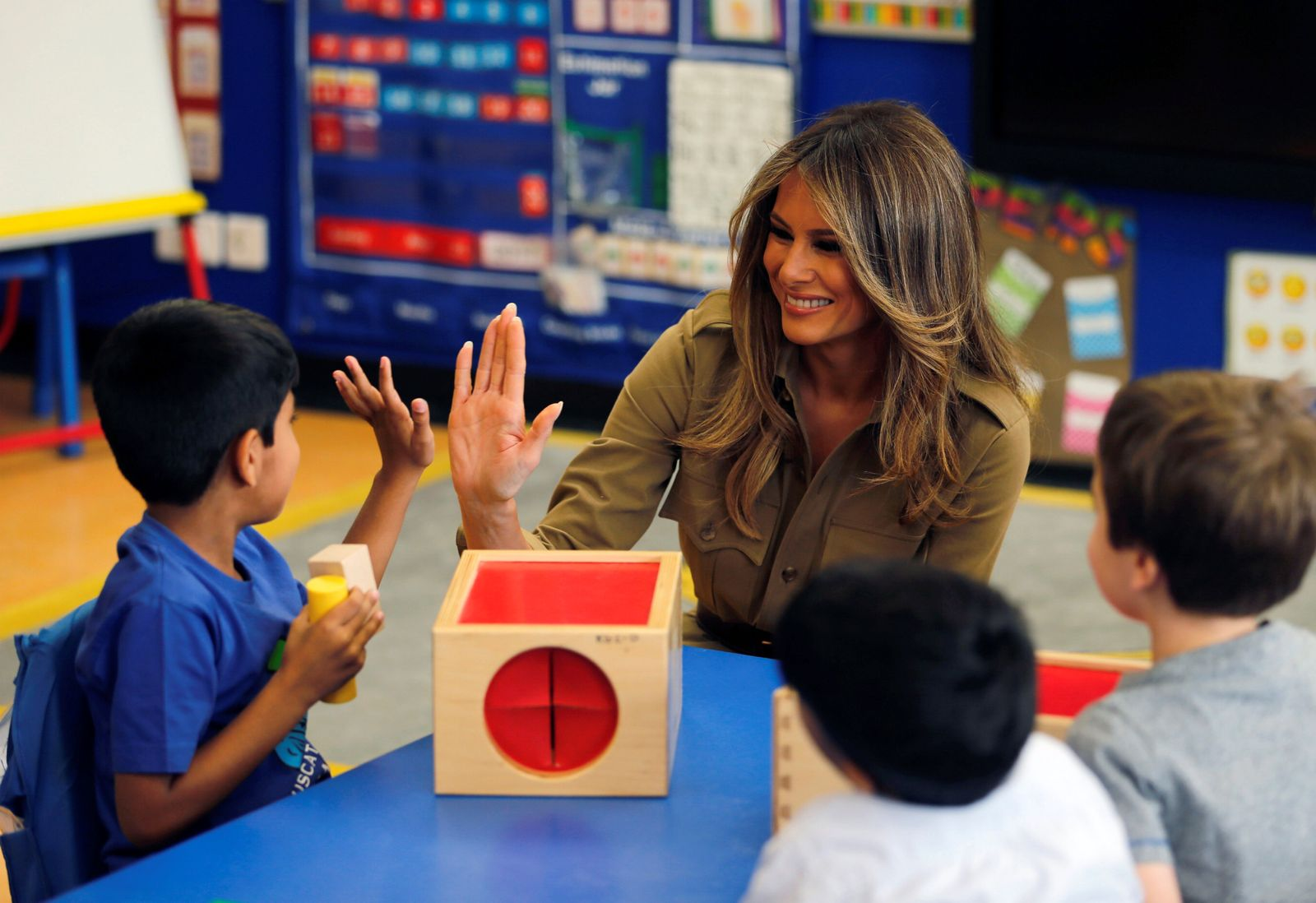 Melania Trump Schule Riad