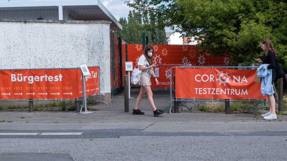 Corona-Testzentrum im Berliner Stadtteil Prenzlauer Berg