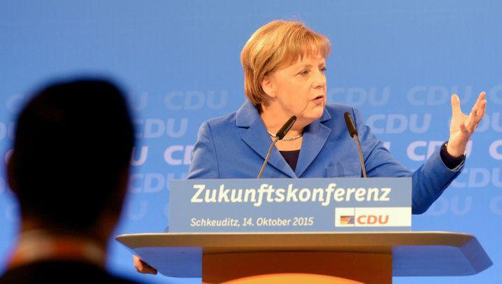 Merkel in Schkeuditz: Ein Abend zwischen Lob und Kritik
