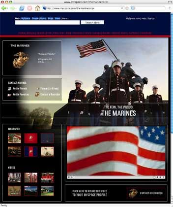 "MySpace-Seite der Marines: ""The Few. The Proud"""