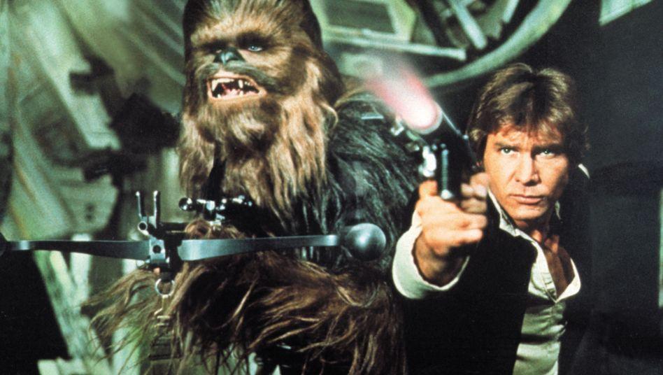 """Harrison Ford als Schmuggler Han Solo im ersten Star-Wars-Film """"Eine neue Hoffnung - A new Hope"""""""