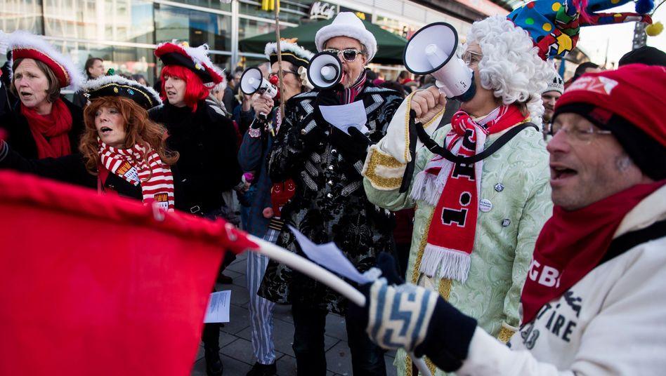 Demonstranten in Köln: Bunt statt braun