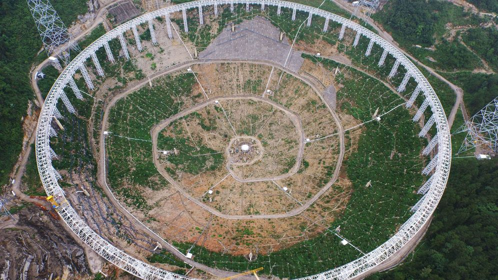 """Radioteleskop """"Fast"""": 500-Meter-Schüssel in Südchina"""
