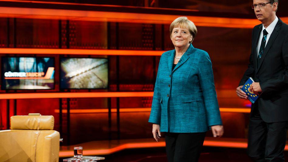 Kanzlerin Angela Merkel bei Günther Jauch: Einstündige Solo-Show