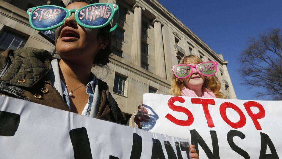 """Proteste gegen NSA-Überwachung (in Washington): """"Ernsthafte Bedrohung"""" für die Bürgerrechte"""