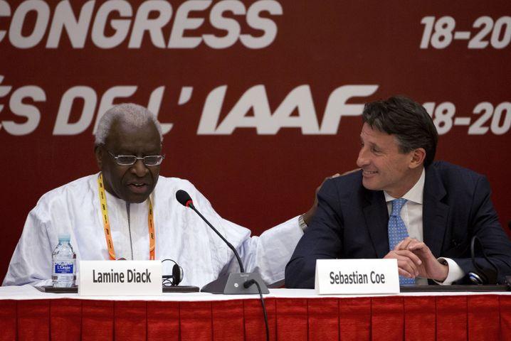 Lamine Diack und sein Nachfolger, der jetzige IAAF-Boss Sebastian Coe