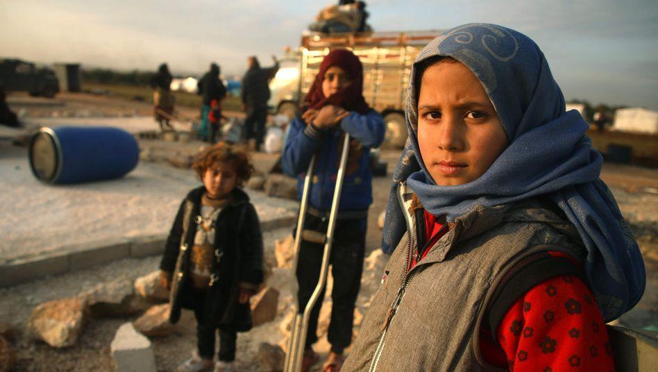 Syrische Kinder in Idlib