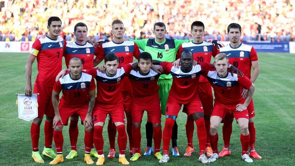 WM-Traum: Die Nationalelf von Kirgisien vor dem Spiel gegen Australien