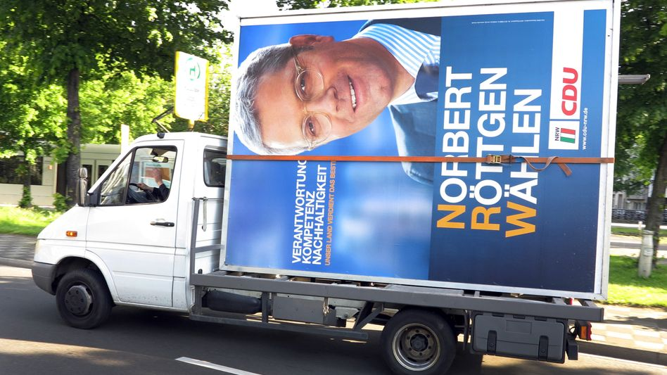 Christian Democratic candidate Norbert Röttgen did not have a good showing on Sunday.