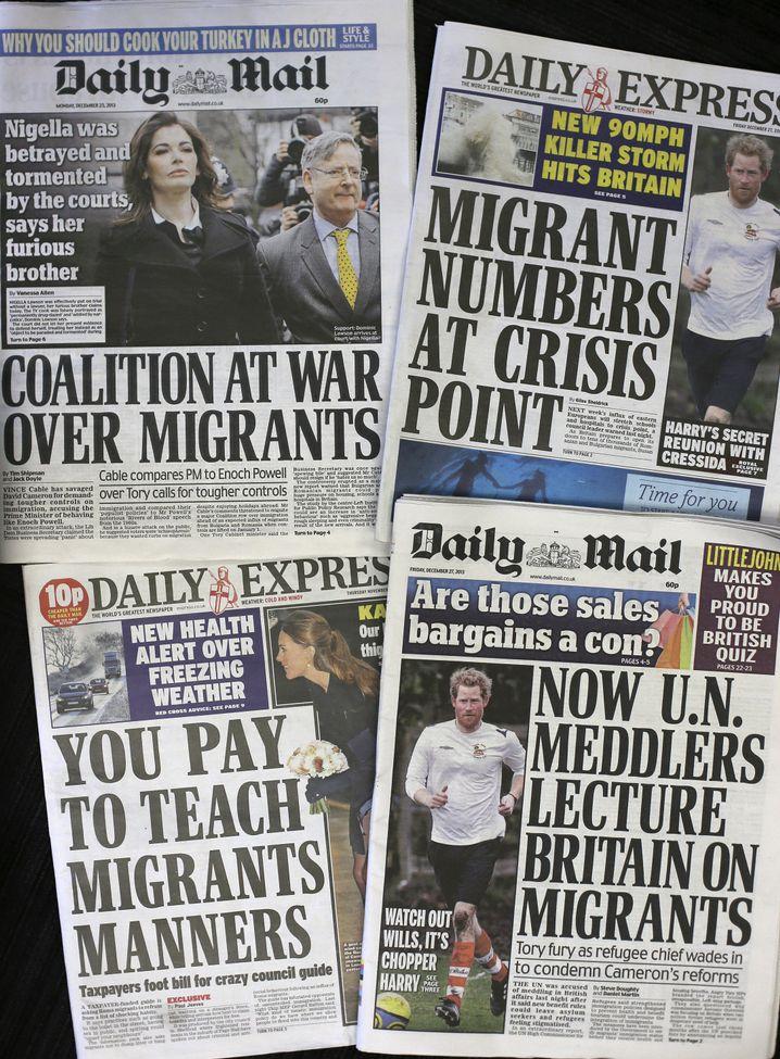 """""""Daily Mail"""" (r.): Stimmungsmache gegen Migranten"""