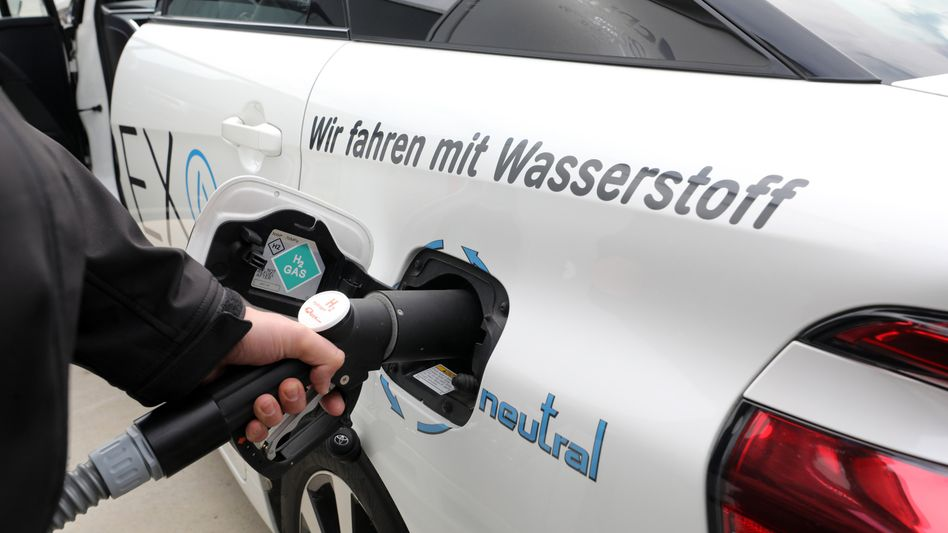 Fahrzeug mit Wasserstoffantrieb (Archivbild): Ersatz für fossile Brennstoffe?