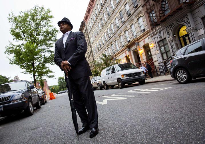 Besucher einer Trauerfeier im New Yorker Stadtteil Harlem: Neun Menschen in Kirche erschossen