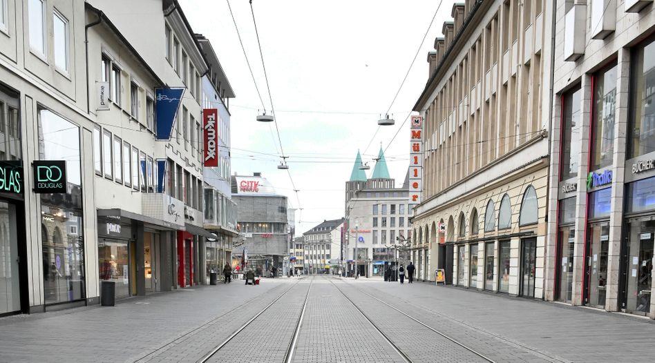 Fußgängerzonein Kassel