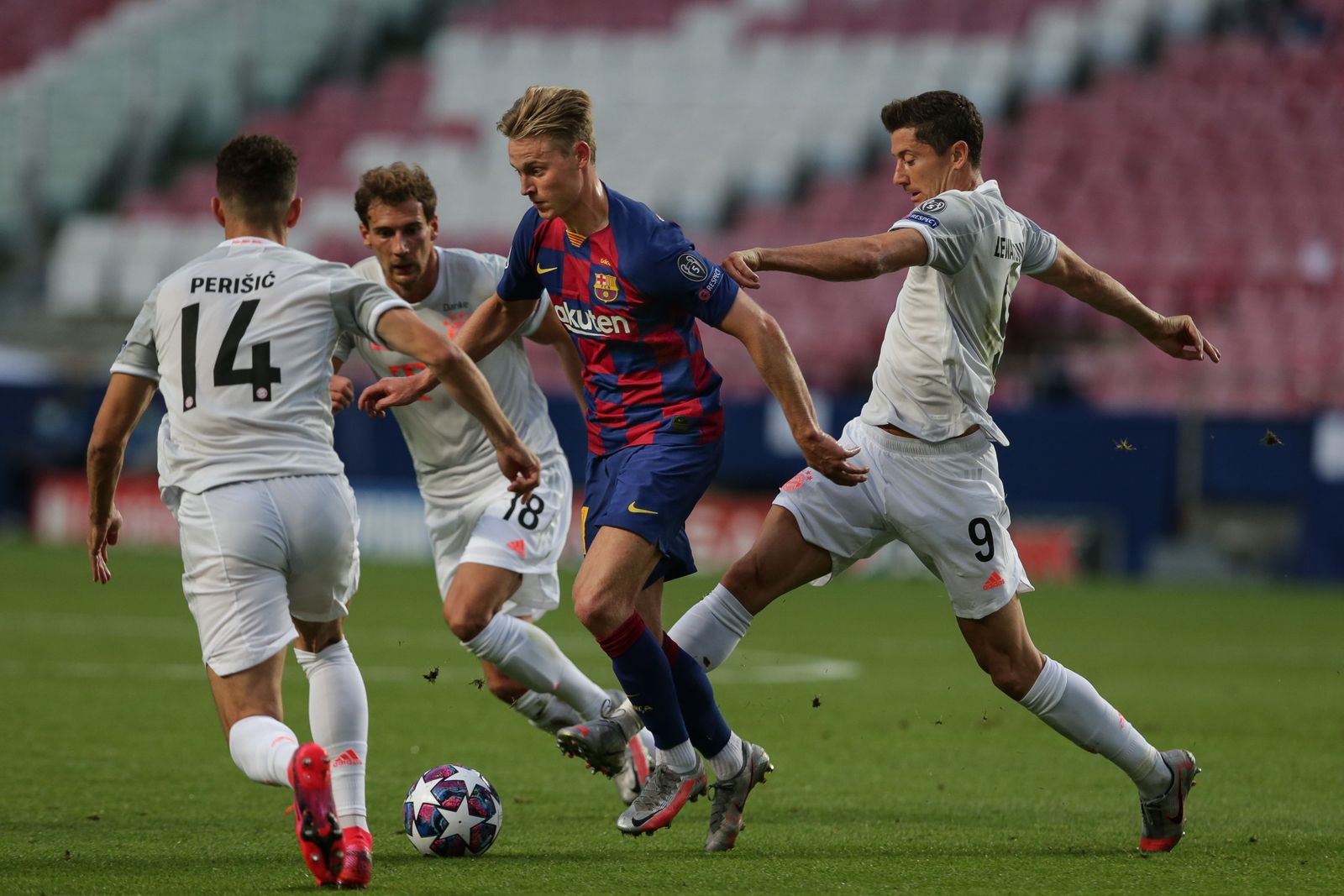 FC Barcelona vs Bayern Munich, Lisbon, Portugal - 14 Aug 2020