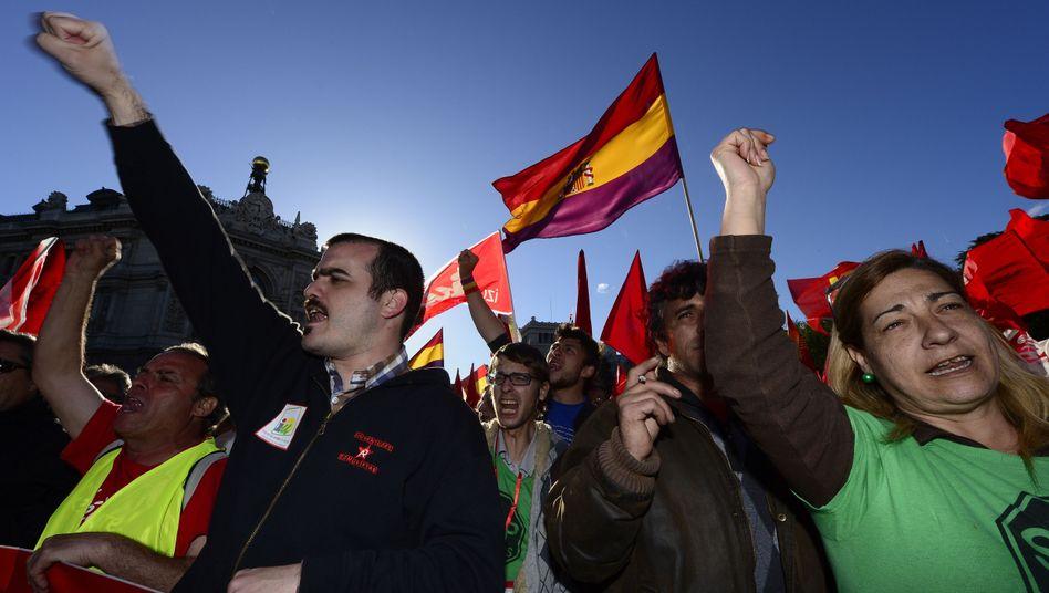 """Demonstranten in Spanien: Aufruf zum """"Marsch der Würde"""""""