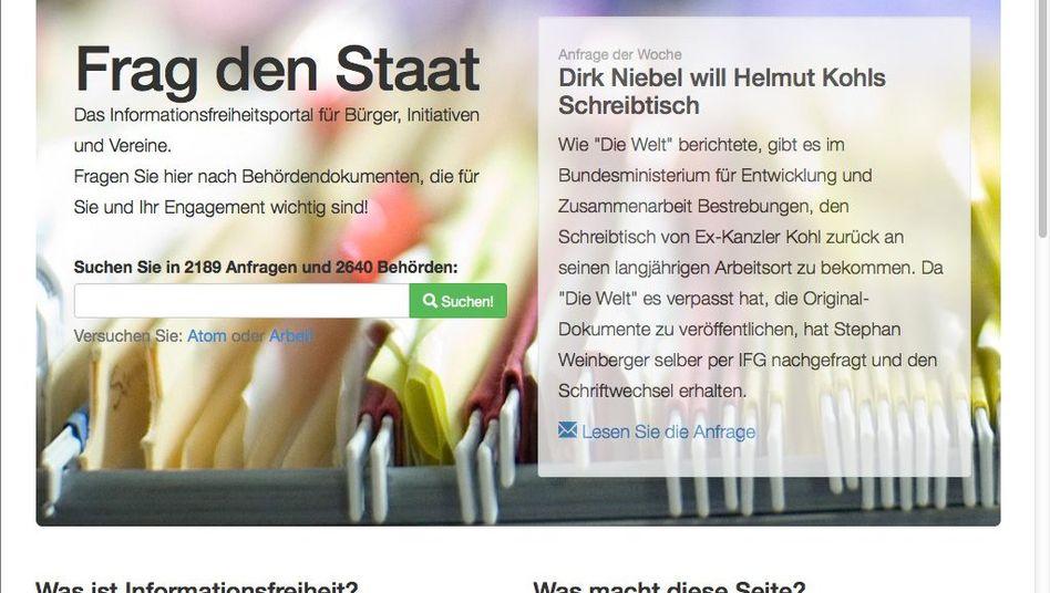 Website von FragDenStaat.de: Abgemahnt vom Innenministerium