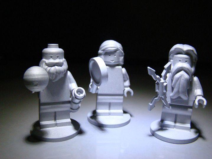 Lego-Figuren an Bord: Jupiter Monde-Entdecker Galilei, Göttin Juno und Gatte Jupiter