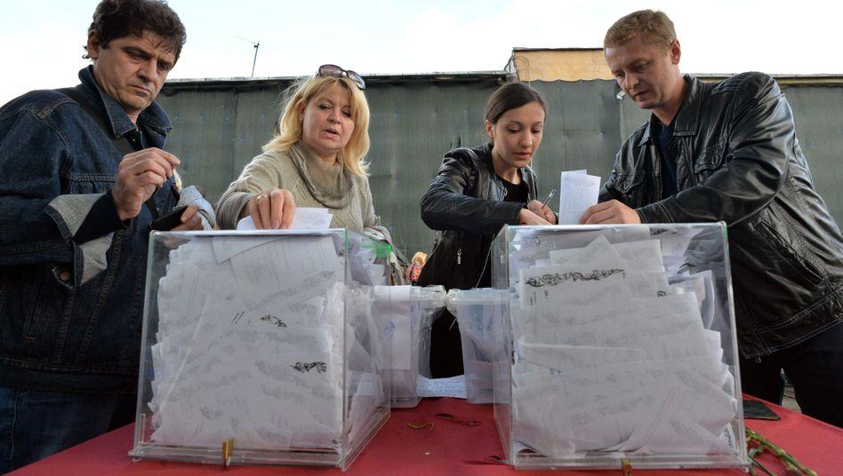 """Ukrainer bei der Abstimmung: """"Moskau achtet die Willensbekundung der Bevölkerung"""""""