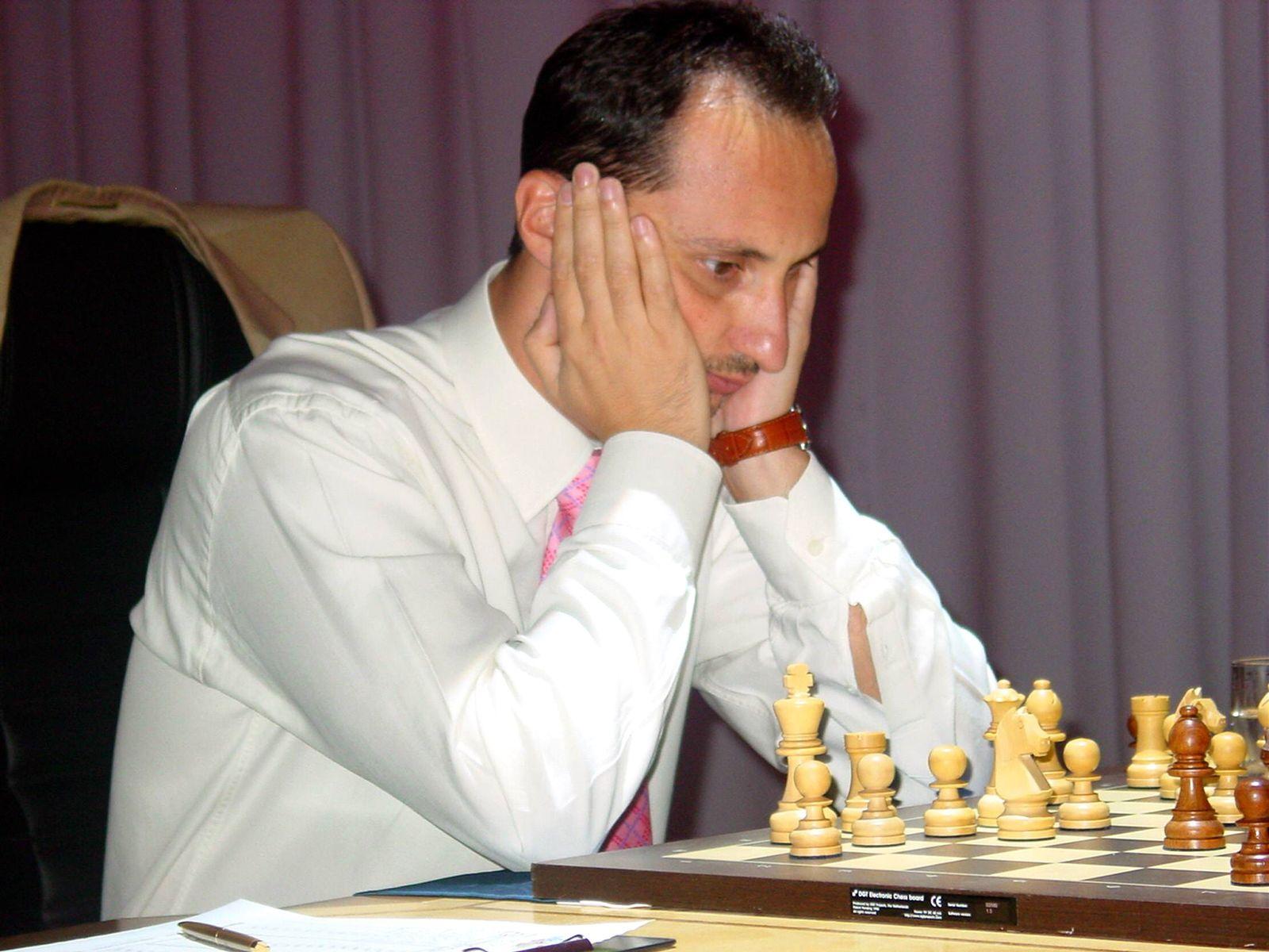 EINMALIGE VERWENDUNG Schachspieler/ Schach/ Veselin Topalov/ Weselin Topalow