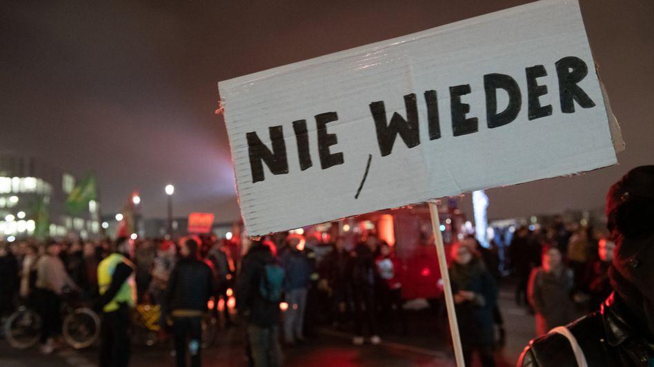 Gegendemonstranten in Berlin