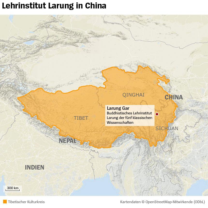 Grafik Karte - Larung Gar - China