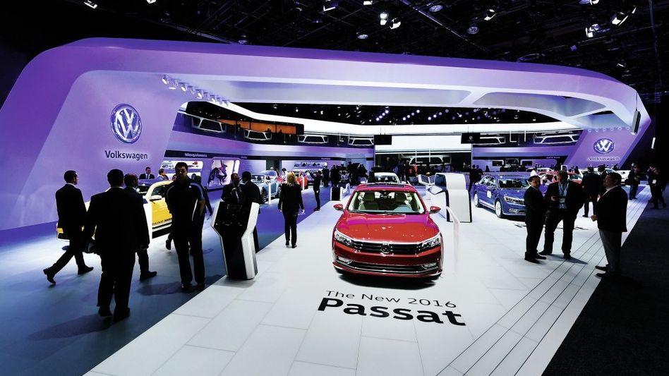 VW-Präsentation auf der Detroit Motor Show am 11. Januar