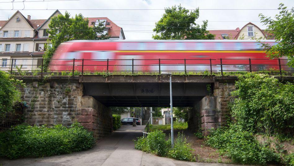 Eisenbahnbrücke in Stuttgart