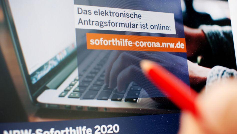 Online-Antrag für Soforthilfe: Einladung zum Betrug