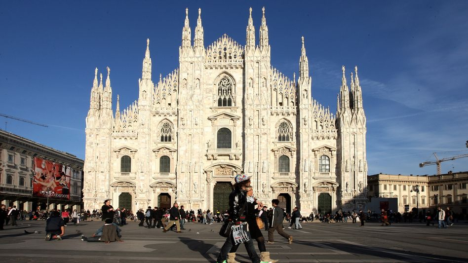 Milan's Piazza Del Duomo: The city is also home to the website of Italy's newspaper of record, Corriere della Sera.
