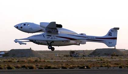Das SpaceShipOne: New Mexico als Tourismuszentrum für Weltraumreisen