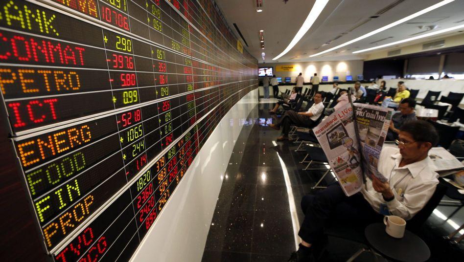 Börse in Bangkok, Thailand: Unbeeindruckt vom amerikanischen Drama