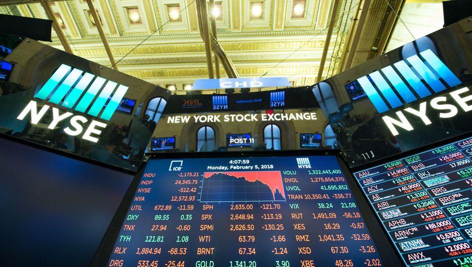 Schlusskurse an der Wall Street