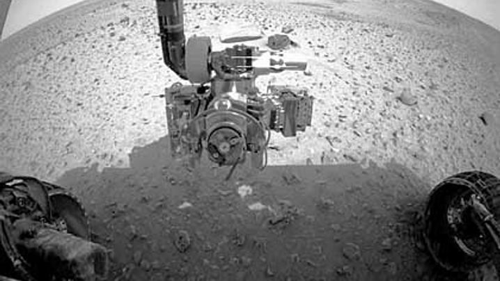 Mars-Bilder: Gestochen scharfe Sandkörner