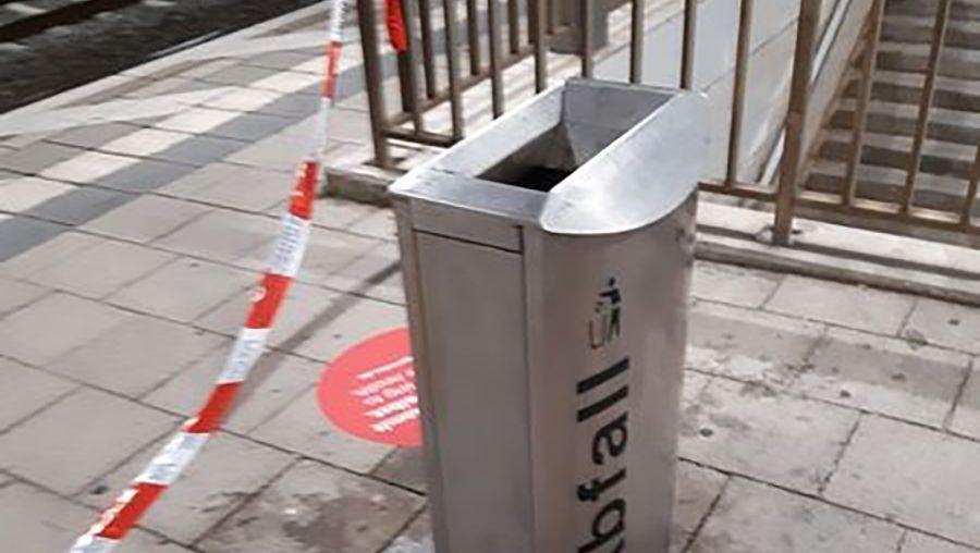 Mülleimer am Bahnhof Grafing