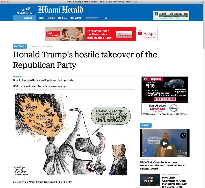 NUR ALS ZITAT Screenshot / US Pressestimmen