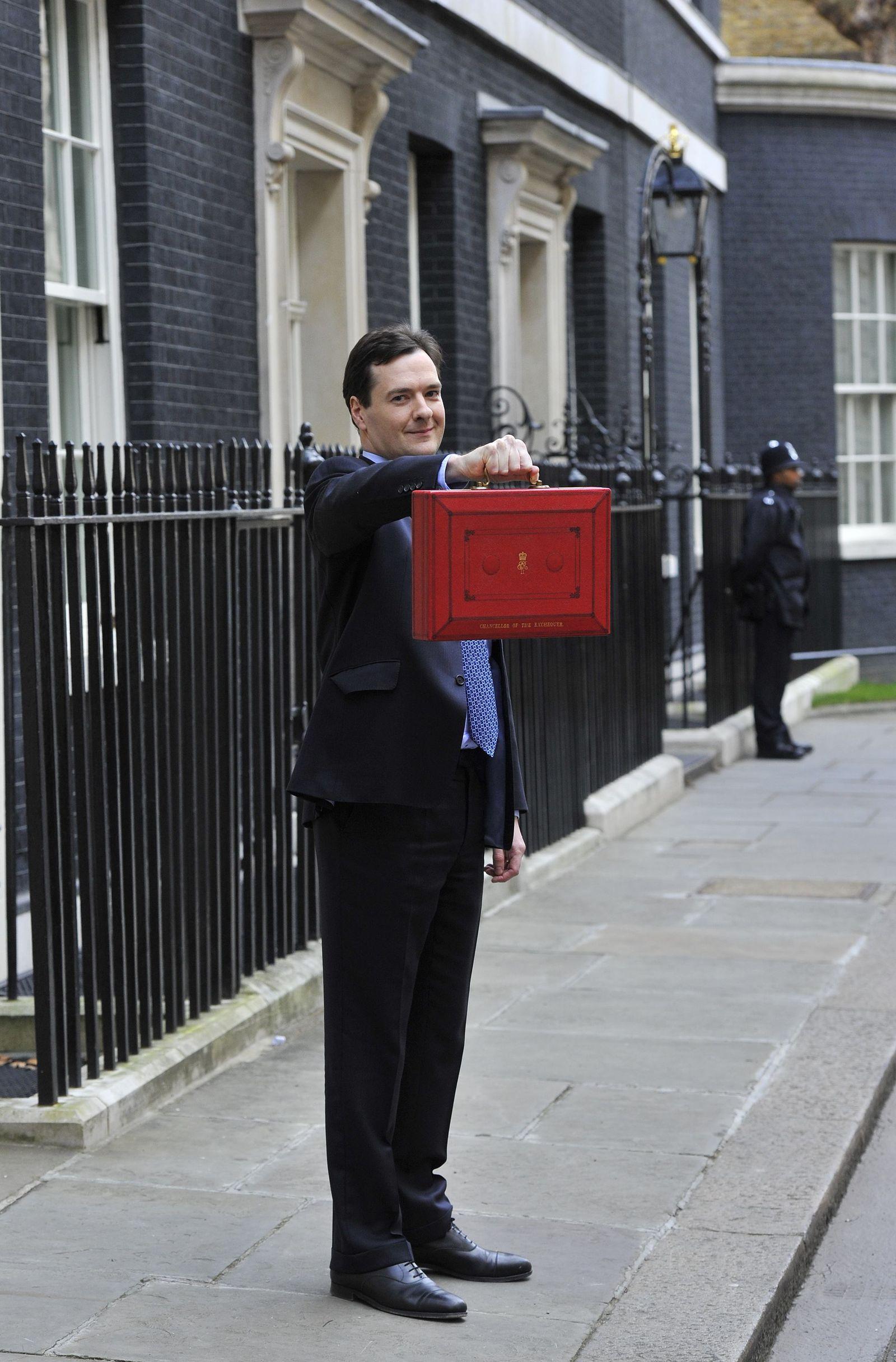 George Osborne / Rotes Köfferchen